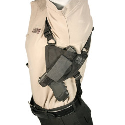 Blackhawk! Nylon Angle Draw Shoulder Holster, One size fits most small, medium and large frame weapons, Black 40SH00BK