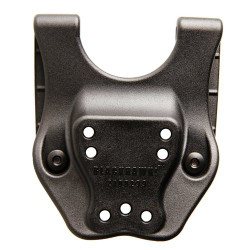BLACKHAWK MID-RIDE DUTY BELT LOOP WITH SCREWS, this accessory moves the holster higher on a duty belt, Black, 44H902BK