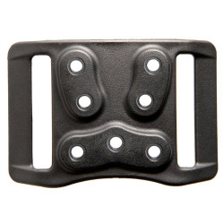BLACKHAWK 44H900BK HIGH-RIDE DUTY BELT LOOP WITH SCREWS, this accessory moves the holster higher on a duty belt, Black