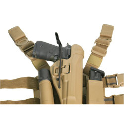 BLACKHAWK SERPA® HOLSTER BUNGEE RETENTION STRAP, Features a high-strength shock cord for additional weapon security, Secure to holster with girth hitch or knot and snap over pistol back strap, Can be cut to length, Black, 40BR00BK