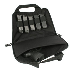 BLACKHAWK GUN RUG PISTOL POUCH, High-quality YKK® zippers and dual sliders for security, Full wraparound carry handles, Internal padded divider for weapons and accessories, Elastic keeper for extra magazines, Black, 61GR01BK
