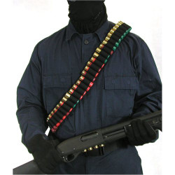 BLACKHAWK 43SB55BK SHOTGUN BANDOLEER, Holds 55 Shotgun Shells, Black