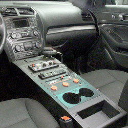 Jotto-Desk Ford Law Enforcement Interceptor SUV Utility Explorer Max Depth Equipment Console, 2013-2019, includes faceplates and filler panels