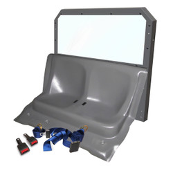 Ford Law Enforcement Interceptor Utility SUV (Explorer) Rear Plastic Seat and Cargo Barrier by Progard, 2013-2019