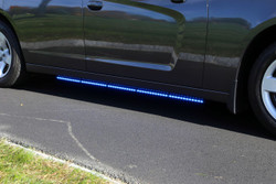 Whelen Tracer Dodge Charger 2015+ LED Running Board Lights, SOLO Models Include Traffic-Advisor, 30 Scan-Lock Flash Patterns