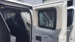 Havis Front Partition Cage for Ford Transit window van P-FRONT-3 with low roof and side swing out doors