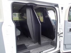 Havis Ford Transit window van Middle partition Cage P-MID-2 with low roof and side swing out or sliding doors