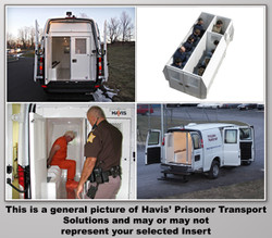 "Havis Chevy Express G-Series Van 10 Prisoner Transport 2 Compartment 100"" Insert Kit 2007-2019"