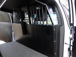 American Aluminum EZ Rider K9 Law Enforcement Vehicle Dog Kennel Transport Insert System and Cargo Containment Unit for Cars Trucks and SUVs, Black or Aluminum Finish