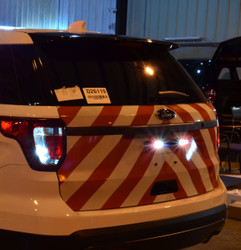 Ford Law Enforcement Interceptor Utility SUV (Explorer) Chevron Emergency Vehicle Graphics with 3M Reflective Stripes, choose colors