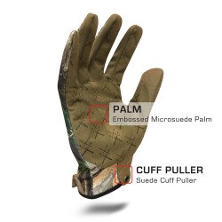 IronClad EXO Tactical Realtree Pro Glove with Embossed Microsuede Palm