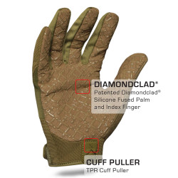 IronClad EXO Tactical OD Green Grip Glove with Diamondclad® Silicone Fused Palm and Index Finger