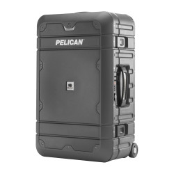 Pelican BA22 Elite Carry-On Luggage - Lightweight, Watertight, Crushproof, includes Wheels, Recessed TSA Approved Combination Lock, Carry Handles and retractable handle, Available in Charcoal Gray, 22x14x9, 12 lbs