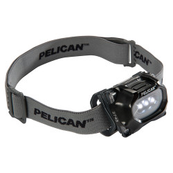 Pelican LED Headlamp, Comfortable Cloth Strap, Available in Black or Yellow 2745