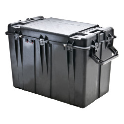 Pelican 0500 Protector - Large Transport Case with Completely Removable Lid, Optional Foam Insert, Available in Black,  40 x 25 x 30, 55 lbs