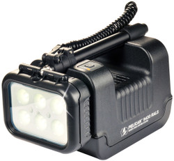 Pelican 9430 Remote Area Light With Fully extendable mast with 360 degree rotating head, Available in Black and Yellow
