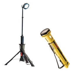 Pelican 9440 Remote Area Scene Light, LED with Bluetooth Remote Activation - Rechargeable Battery, available in Black and Yellow