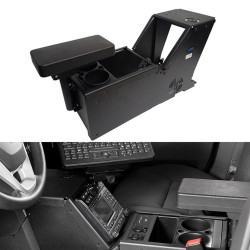Gamber Johnson 7170-0166-01 Ford PI Utility, 2013-2019, Console Box with Cup Holder and Armrest Kit, includes faceplates and filler panels