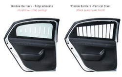 Setina Ford F Series Law Enforcement Trucks F150, F250, F350 Window Barrier Guards, Pair, Kit, Choose Steel or Polycarbonate Plastic