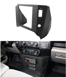 Jotto Desk 2018+ F-150 SSV and Law Enforcement Responder (PPV) Contour Console Package 425-6648, Mounts Under the Dash or Radio, includes faceplates and filler panels