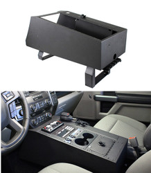 Jotto Desk 425-6500 Ford F-150 SSV and PPV Law Enforcement Responder 2018+ Contour Console, includes Locking Lid Storage, floorplate, and magnetic mic, includes faceplates and filler panels