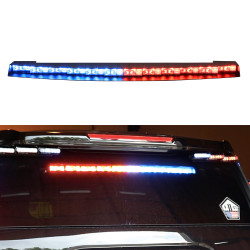Whelen Inner Edge® RST™ Chevy Tahoe 2015-2020 IS458 & 2021+ IS548 Upper Rear Facing Interior Light Bar, Low Current or WeCan®, SOLO or DUO LEDs per light head, includes ITRAYL or ITRAYW
