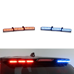 Whelen Outer Edge® Ford Law Enforcement Interceptor Utility (Explorer) SUV 2013-2019, 2020, Rear Facing Upper Exterior Horizontal Mount Light Bar, ION™ SOLO or DUO Super-LED®, includes Traffic Advisor Functionality
