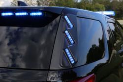 Whelen Outer Edge® Rear Pillar Ford Police Interceptor Utility (Explorer) SUV 2013-2019 RPLS34 Exterior Vertical Mount Light Bar, SOLO ION™ Super-LED® RPLS34, optional WeCan RPWS34