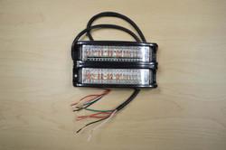 SoundOff Signal nFORCE Dual-Stacked LED Surface Flush Mount Light, Removable Shroud, 1 2 or 3 Colors per light head, ENFDSS