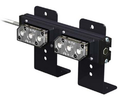 SoundOff Signal UltraLITE 2 Module Exterior or Interior Warning LED light stick, includes L-brackets and 14 ft cord, EL3PD02A00