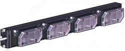 SoundOff Signal UltraLITE 4 Module Exterior Warning LED light stick, includes L-brackets and 14 ft cord, EL3PD04A00
