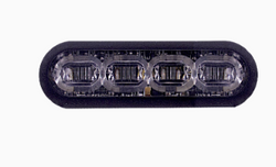 """SoundOff Signal mPOWER Fascia 3"""" Perimeter Stud Mount or Optional Hood Mound, Grille Light Head, 4 LED single colors per light head, fits perfect in the Ford Police Interceptor Utility SUV (Explorer) grille, 2013-2019"""