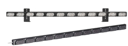 SoundOff Signal UltraLITE 12 Module Exterior or Interior Warning LED light stick, includes L-brackets and 14 ft cord, EL3PD12A00