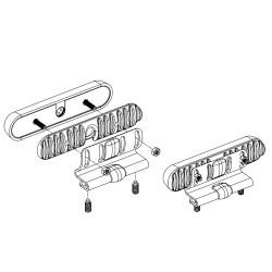 SoundOff Signal mPower® Fascia 90° Adjustable Edge Bracket, accessory, black or white colors available