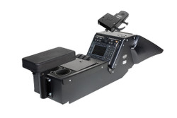 Gamber Johnson 7170-0137-04 Dodge Charger Law Enforcement Package (2011-2019) Console Box with Cup Holder, Armrest and Mongoose™ Motion Attachment Kit, includes faceplates and filler panels