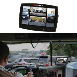 """Code-3 Quad Monitor, Quad View 7"""" LCD Color Monitor CC7000-QM, Additional Camera Options Available"""