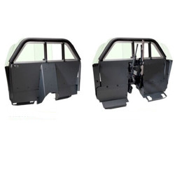 Setina Chevrolet Impala Law Enforcement Car Partition Cage with Recessed Panel for Prisoner Transport, allows extra space for gun rack or console
