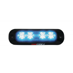 Code-3 XTP4 Surface/Flush Mount 4-LED Thin Light Head, Single or Split Color, 0.8 inches thick