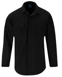 Propper® Men's Summerweight Tactical Button-Down Shirt, Long Sleeve, 94% polyester and 6% spandex ripstop, available in black, khaki, olive and LAPD Navy, F5346
