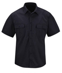 Propper F5350 Men's Kinetic® Tactical Button-Down Uniform Shirt, Short Sleeve, Polyester/Cotton Ripstop NEXStretch® Fabric w/DWR, available in black, khaki, olive and LAPD Navy