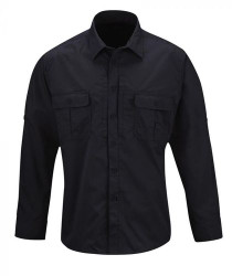 Propper F5371 Men's Kinetic® Tactical Button-Down Uniform Long Sleeve Shirt, Polyester/Cotton ripstop NEXStretch® fabric w/DWR, 2 Chest Pockets, Mic Loop, Available in black, khaki, olive and LAPD Navy