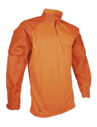 Tru-Spec T.R.U.® Tactical Response Uniform TS-2597 1/4 ZIP Combat Pullover Shirt, 60% polyester / 40% cotton, available in Orange, includes sleeve pockets