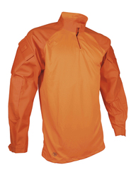Tru-Spec 2597 T.R.U.® Tactical Response Uniform 1/4 ZIP Combat Pullover Shirt, polyester/cotton, includes sleeve pockets, Orange