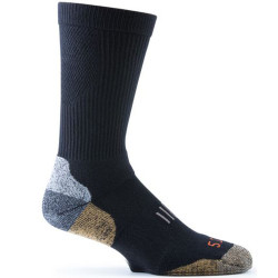 5.11 Tactical Year Round Crew Men's Sock, Arch and calf support, Black 10014