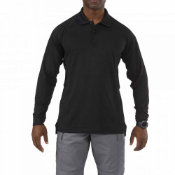 5.11 Tactical 72049 Men's Performance Long Sleeve Uniform or Casual Polo Shirt, 100% Polyester, available in Black, Silver Tan, Dark Navy Blue, and LE Green