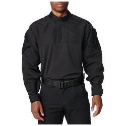 5.11 Tactical MEN'S FAST-TAC™ TDU® RAPID SHIRT, 100% polyester, Light, durable fabric, Reinforced elbows, Epaulettes and badge tab included, Tall Fit, 72488T