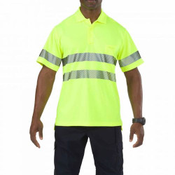 5.11 Tactical 41007 Men's High-Visibility Short Sleeve Uniform Polo Shirt, available in Hi-Vis Yellow, with Sternum Mic Loop