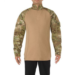 5.11 Tactical 72185 MEN'S MULTICAM® TDU® RAPID ASSAULT SHIRT, Polyester / Cotton Material, 1/4 Zip TDU Pullover, Designed for use with body armor, Sleeve Pocket, Mesh panels for breathability