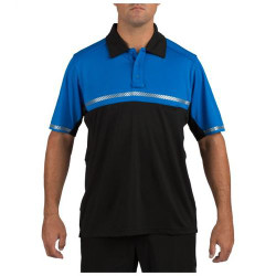 5.11 Tactical 71322 Men's Bike Patrol Short Sleeve Uniform Polo Shirt, Integrated Reflective Tape for Added Visibility, available in Hi-Vis Yellow and Royal Blue