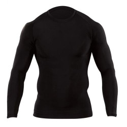 5.11 Tactical 40006019 MEN'S TIGHT CREW SHIRT - LONG SLEEVE, 82% Polyester / 18% Spandex, Quick-Drying, Moisture-Wicking, Designed for Under Body Armor or Casual Workout Wear, Athletic fit, Black